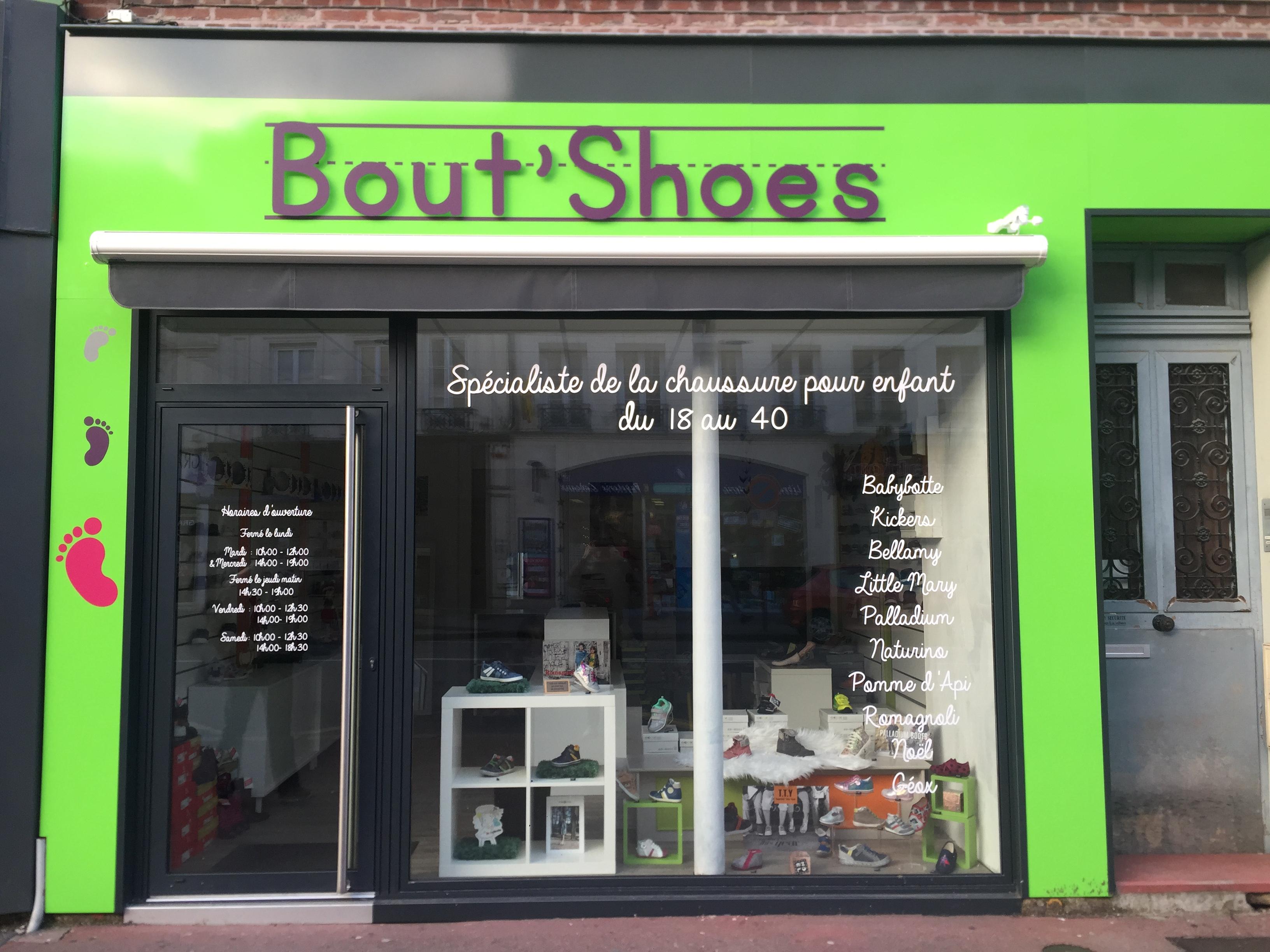 Facade de magasin de chaussures BOUT SHOES - Elbeuf