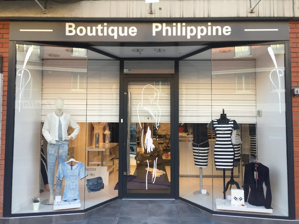 Façade de magasin BOUTIQUE PHILIPPINE à Elbeuf