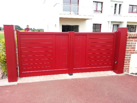 Portail aluminium battant - Dieppe