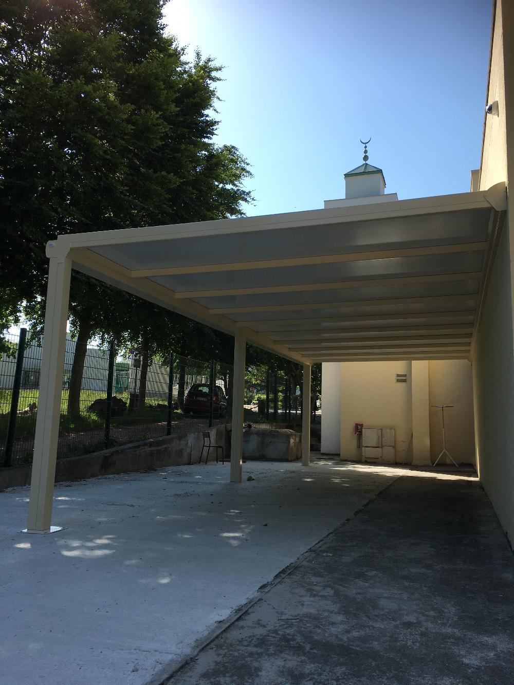 Installation d'une pergola en aluminium - Rouen (Normandie)
