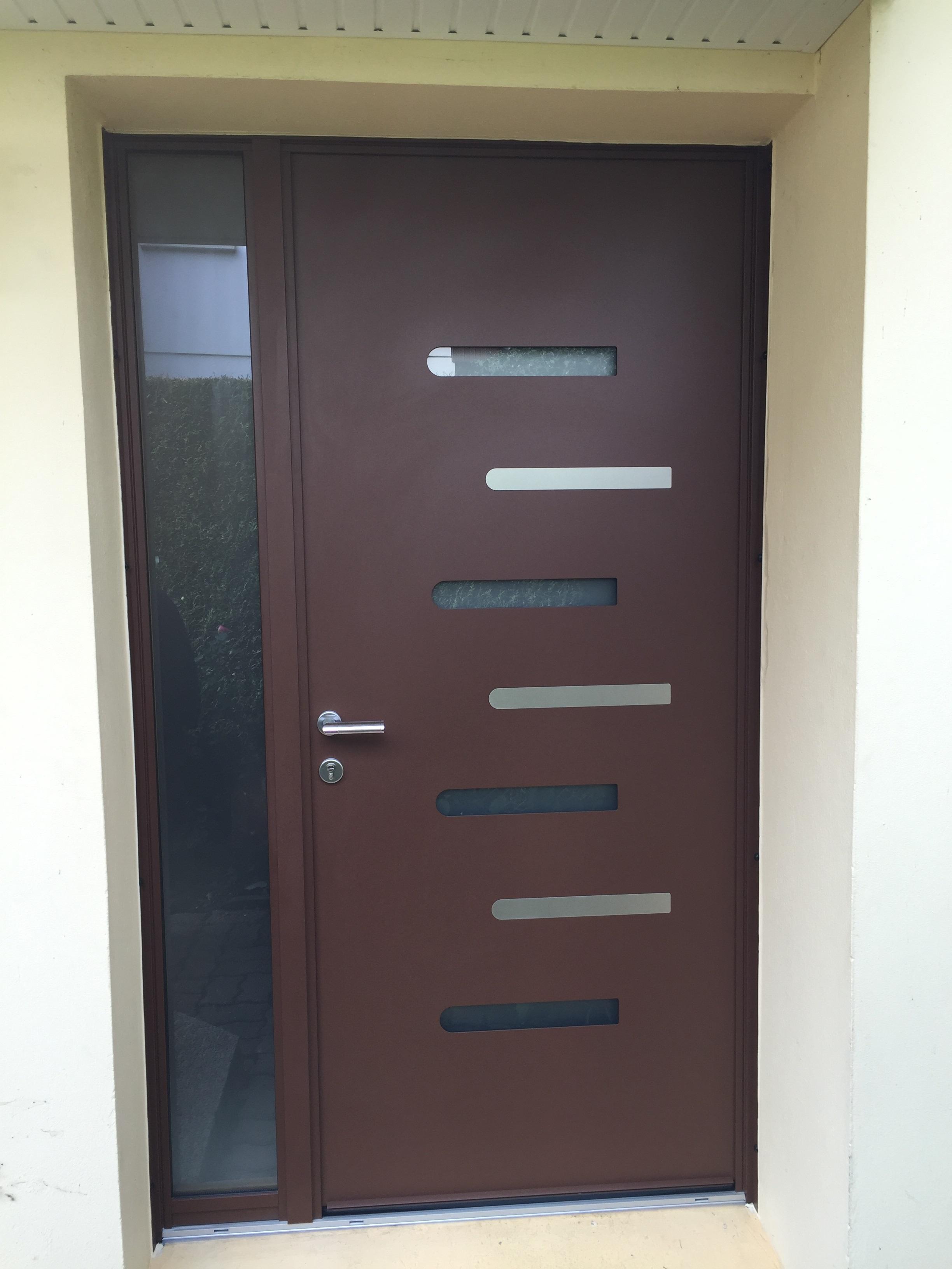 Porte d'entrée en aluminium mixte - Le Mesnil-Esnard