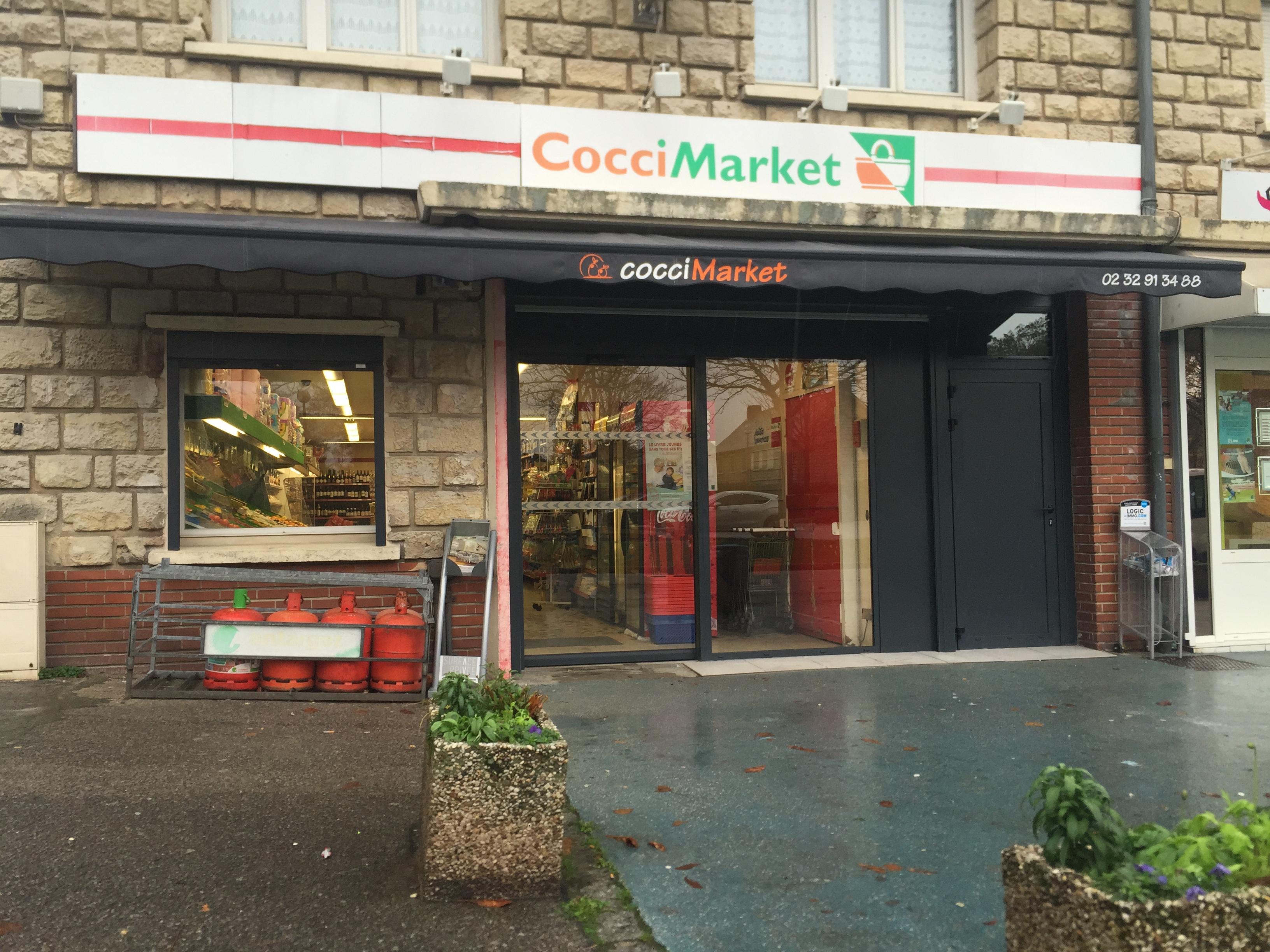 Changement facade magasin COCCI MARKET - Le Thuit Signol