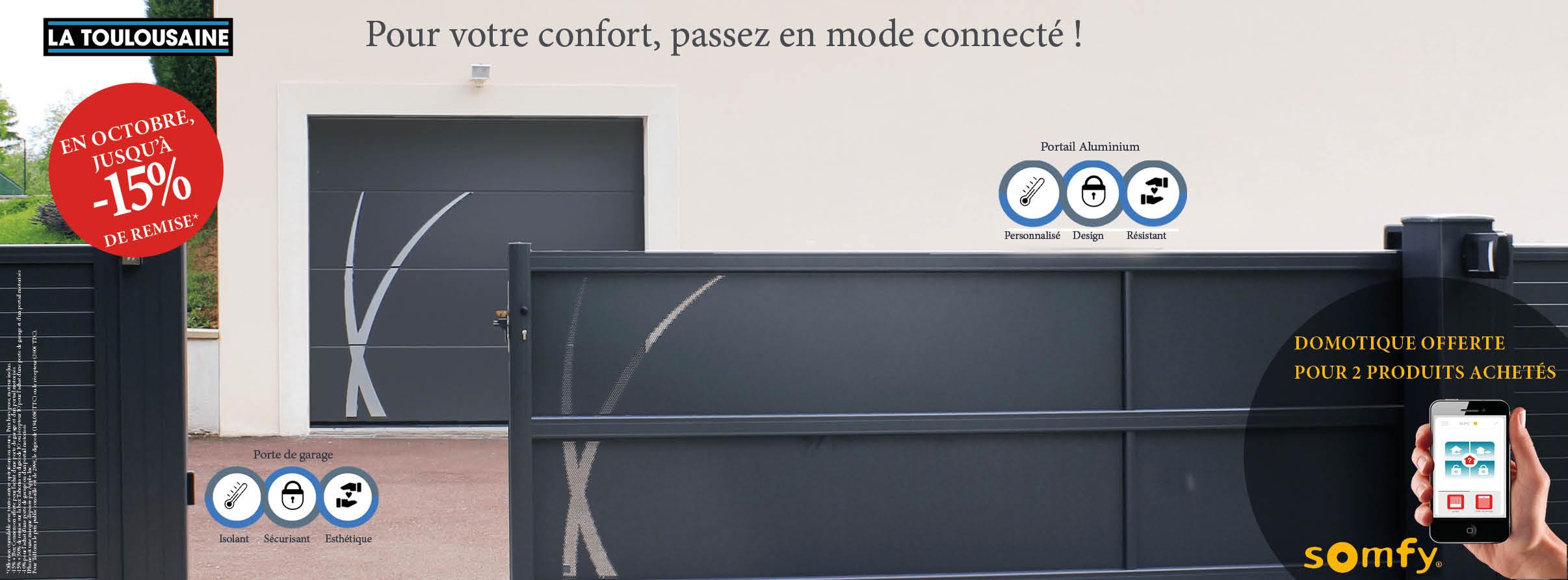 -15% sur portails/portes de garage motorisés SOMFY !