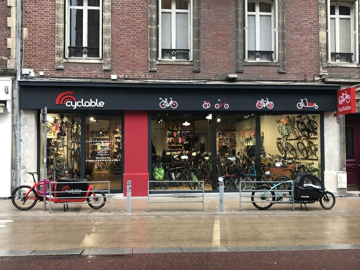 Rénovation complète de façade du magasin Cyclable à Rouen
