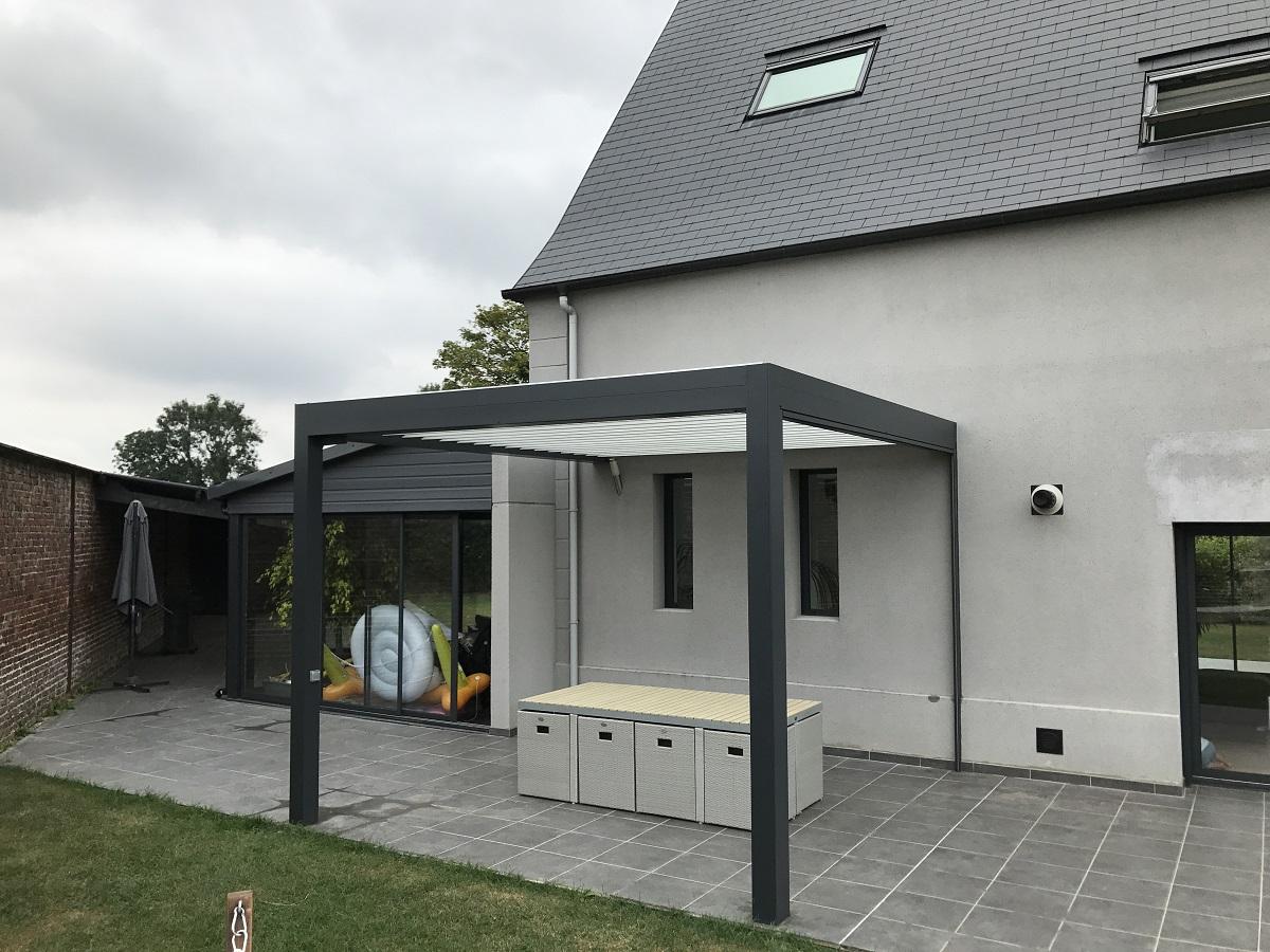 Installation d'une pergola bio-climatique à Rouen