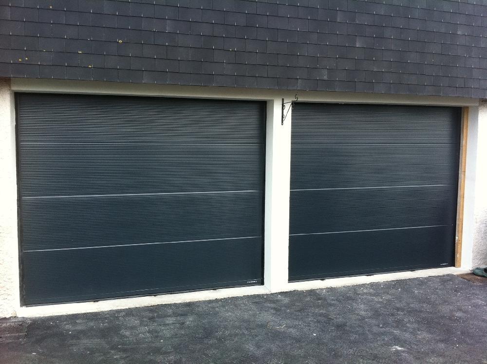 Portes d 39 entr e portails et portillons alu et pvc rouen for Poseur porte garage