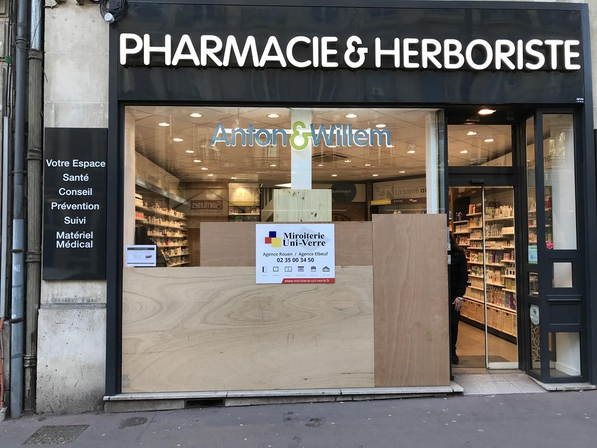 Rénovation d'une pharmacie à Rouen