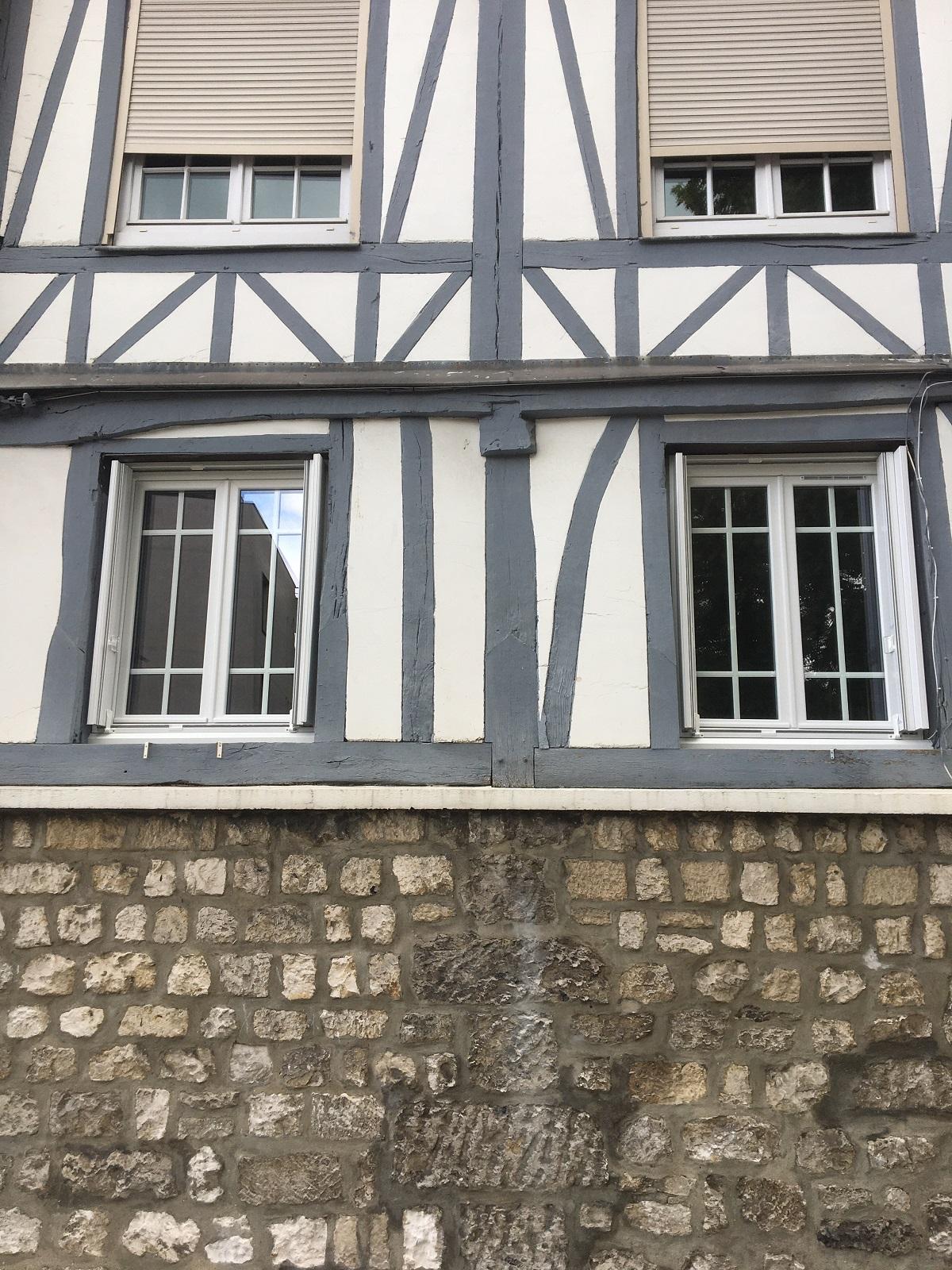 Remplacement de fenêtres en bois sur immeuble ancien