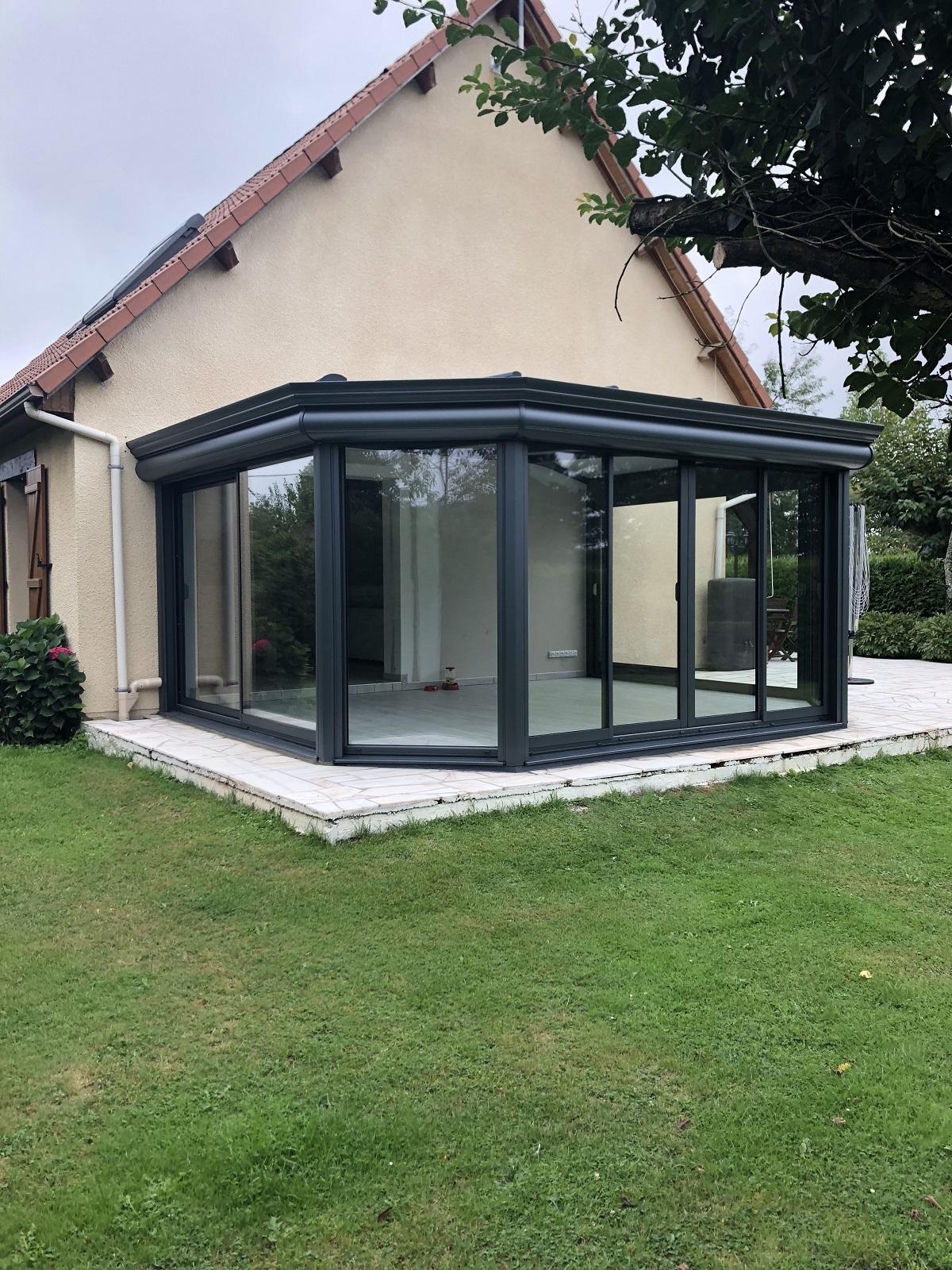 Installation d'une veranda aluminium sur Bourgtheroulde